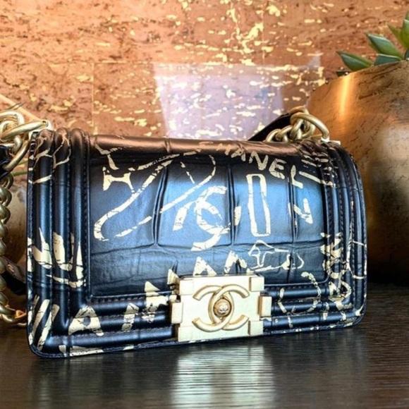 CHANEL Handbags - Chanel Crocodile Embossed BOY Handbag SS2019